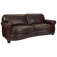 Broyhill Tanners Choice New Vintage Leather Sofa