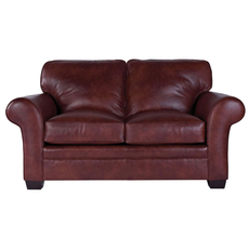 Broyhill Tanners Choice Zachary Leather Loveseat