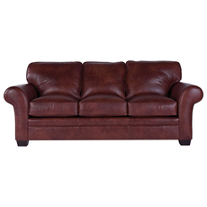 Broyhill Tanners Choice Zachary Leather Sofa