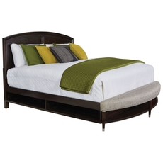 Broyhill Vibe King Size Panel Storage Bed with Radius Bench Footboard