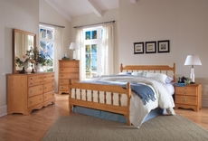 Carolina Furniture Works Common Sense Spindle Complete Bed in Maple