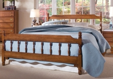 Carolina Furniture Works Common Sense Spindle Complete Bed in Cherry