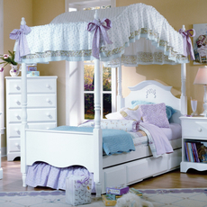 Carolina Furniture Works Cottage Princess Canopy Complete Bed