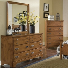 Carolina Furniture Works Creek Side Double Dresser