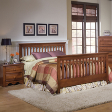 Carolina Furniture Works Crossroads Slat Complete Bed