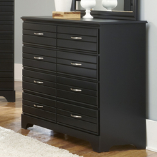 Carolina Furniture Works Platinum Collection 8 Drawer Tall Dresser in Black