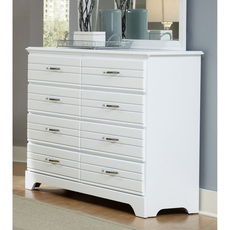 Carolina Furniture Works Platinum Collection 8 Drawer Tall Dresser in White