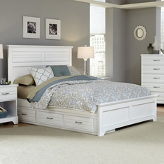Carolina Furniture Works Platinum Collection Full Size Storage Bed in White