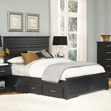 Carolina Furniture Works Platinum Collection Queen Size Storage Bed in Black