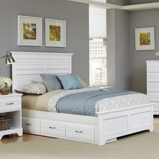 Carolina Furniture Works Platinum Collection Twin Size Storage Bed in White