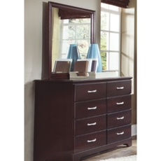 Carolina Furniture Works Signature Collection 8 Drawer Tall Dresser and Mirror