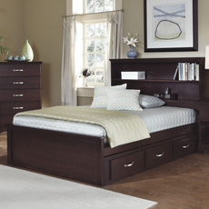 Carolina Furniture Works Signature Collection Twin Size Bookcase Storage Bed