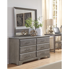 Carolina Furniture Works Carolina Vintage 6 Drawer Double Dresser and Mirror