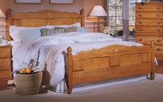 Carolina Furniture Works Heirlooms Oak Panel Complete Bed