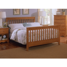 Carolina Furniture Works Heirlooms Oak Slat Complete Bed