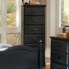 Carolina Furniture Works Midnight 6 Drawer Lingerie Chest