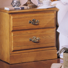 Carolina Furniture Works Oak 2 Drawer Nightstand