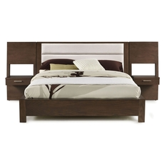 Casana Furniture Hudson Upholstered Platform Bed with Panel Nightstands