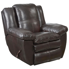 Catnapper Aria Leather Power Lay Flat Recliner in Chocolate