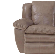 Catnapper Aria Leather Glider Recliner in Smoke