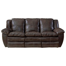 Catnapper Aria Leather Power Lay Flat Reclining Sofa in Chocolate
