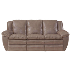Catnapper Aria Leather Power Lay Flat Reclining Sofa in Smoke