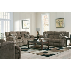 Catnapper Brice Lay Flat Power Reclining Console Loveseat with Power Headrest in Chateau