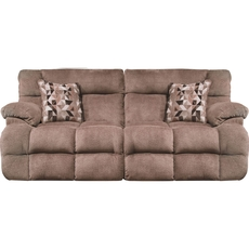 Catnapper Brice Lay Flat Power Reclining Sofa with Power Headrest in Chateau