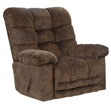 Catnapper Bronson Chaise Rocker Recliner in Chestnut