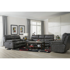 Catnapper Camden Lay Flat Power Reclining Console Loveseat in Steel