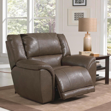 Catnapper Carmine Lay Flat Recliner in Smoke with Power Option
