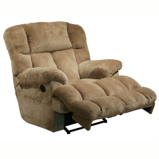 Catnapper Cloud 12 Lay Flat Chaise Recliner in Camel with Power Option