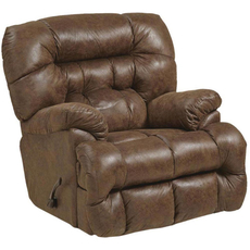 Catnapper Colson Chaise Rocker Recliner with Heat and Massage in Canyon