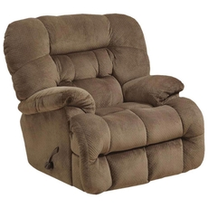 Catnapper Colson Chaise Rocker Recliner with Heat and Massage in Mocha