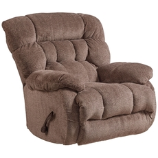 Catnapper Daly Chaise Swivel Glider Recliner in Chateau