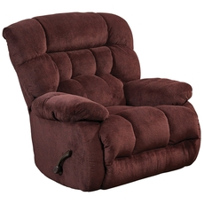Catnapper Daly Chaise Swivel Glider Recliner in Cranapple