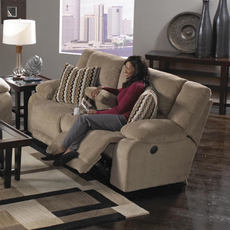 Catnapper Hammond Reclining Console Loveseat in Coffee with Storage and Power Option