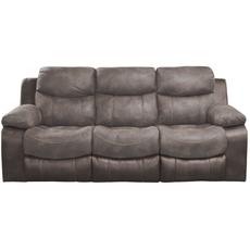 Catnapper Henderson Power Reclining Sofa with Drop Down Table in Dusk