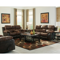 Catnapper Henderson Reclining Console Loveseat in Sunset