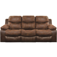 Catnapper Henderson Reclining Sofa with Drop Down Table in Sunset