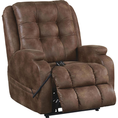 Catnapper Jenson Power Lift Lay Flat Recliner in Almond with Dual Motor