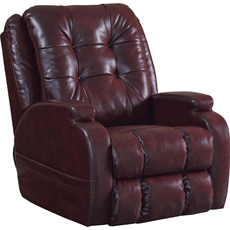 Catnapper Jenson Power Lift Lay Flat Recliner in Burgundy with Dual Motor