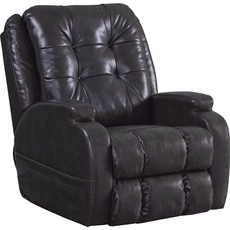 Catnapper Jenson Power Lift Lay Flat Recliner in Coal with Dual Motor