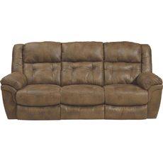 Catnapper Joyner Lay Flat Reclining Sofa with Drop Down Table in Almond with Power Option