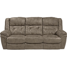 Catnapper Joyner Lay Flat Reclining Sofa with Drop Down Table in Marble with Power Option