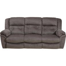 Catnapper Joyner Lay Flat Reclining Sofa with Drop Down Table in Slate with Power Option