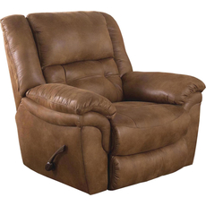 Catnapper Joyner Lay Flat Recliner in Almond with Power Option