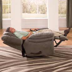 Catnapper Joyner Lay Flat Recliner in Slate with Power Option