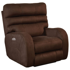 Catnapper Kelsey Power Lay Flat Recliner with Power Headrest in Walnut