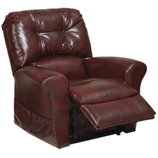 Catnapper Landon Power Lift Lay Flat Recliner in Bourbon